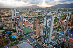 Benidorm upview. View of Benidorm from  the tallest hotel in Europe Royalty Free Stock Image