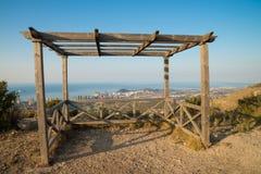 Benidorm vanuit een gezichtspunt van de heuveltop Stock Fotografie