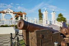 Benidorm vecchio Canon a Mirador del Castillo Immagine Stock
