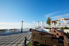 Benidorm vecchio Canon a Mirador del Castillo Fotografia Stock Libera da Diritti