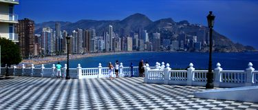 Benidorm View royalty free stock photography