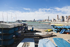 Benidorm view from the marina Stock Photos