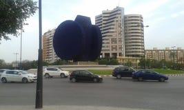 Beniferri blue statue Valencia Royalty Free Stock Photography