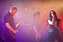 Benighted Soul Performing Live at Aula Magna Royalty Free Stock Photo
