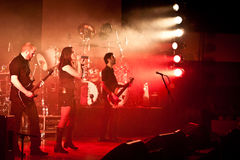 Benighted Soul Performing Live at Aula Magna Stock Images