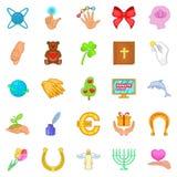 Benignity icons set, cartoon style. Benignity icons set. Cartoon set of 25 benignity vector icons for web isolated on white background Stock Photos