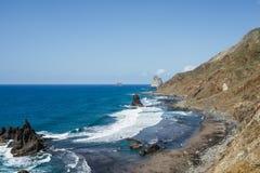 Benijo Beach, Tenerife, 2017 royalty free stock images
