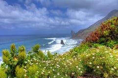 Benijo-Strand, Teneriffa, Kanarische Inseln, Spanien lizenzfreie stockbilder