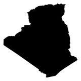 Benin błękitna mapa na spodlonym tle Fotografia Royalty Free