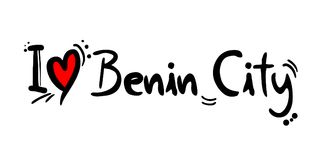 Benin City love message. Creative design of love city message Royalty Free Stock Image