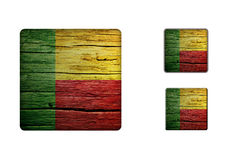Benin Flag Buttons Royalty Free Stock Photography