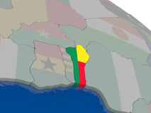 Benin with flag Stock Image
