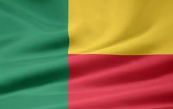 benin flagga Fotografering för Bildbyråer