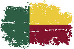Benin grunge flag. Vector illustration. Stock Photos