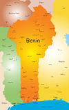 Benin kaart Royalty-vrije Stock Fotografie