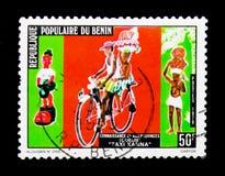 Benin landskap, serie, circa 1978 Arkivbild