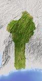 Benin, mapa de relevo protegido Fotos de Stock Royalty Free