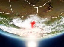 Benin mit Sonne auf Planet Erde Lizenzfreie Stockbilder