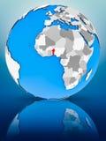Benin på det politiska jordklotet royaltyfri foto