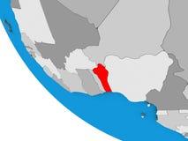 Benin på jordklotet 3D vektor illustrationer