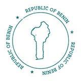 Benin vektoröversikt royaltyfri illustrationer