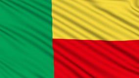 Beninese Flag. stock footage