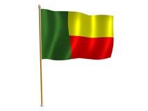 Benini silk flag. Silk flag of Benin Stock Image