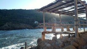 Benirras beach Ibiza Stock Photo