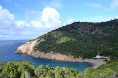 Benirras beach in Ibiza Stock Photography