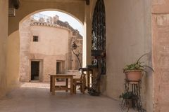 Benisano medieval castle patio Royalty Free Stock Photo
