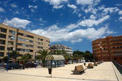 Benissa, Spain. Small Little Cosy Town at Costa Blanca, near Calpe, Valencia County, Spain stock images
