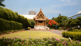 Benjakitti公园的泰国热衷的亭子在曼谷 库存图片