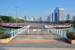 Benjakitti-Park in Bangkok lizenzfreies stockbild