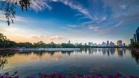 Benjakitti-Park von Bangkok Lizenzfreie Stockfotografie