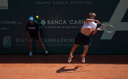 Benjamin Balleret playing at ATP Genoa Open Royalty Free Stock Photography