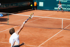 Benjamin Balleret playing at ATP Genoa Open Stock Photo