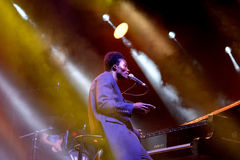 Benjamin Clementine (singer and pianist) performs at Vida Festival Stock Photos