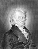 Benjamin Constant. (1767-1830) on engraving from 1859. Swiss-born French nobleman, thinker, writer and politician. Engraved by Hoff and published in Meyers Stock Photography