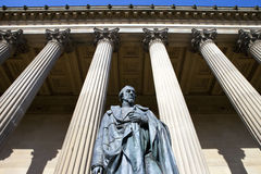 Benjamin Disraeli Statue outside St. George's Hall in Liverpool Stock Photos