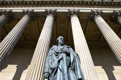 Benjamin Disraeli Statue outside St. George's Hall in Liverpool Stock Photography