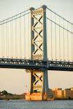 Benjamin Franklin桥梁 图库摄影