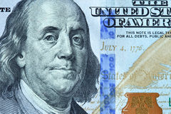 Benjamin Franklin纵向 库存图片