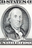 Benjamin Franklin ένα πορτρέτο από τις παλαιές ΗΠΑ εκατό δολάρια Στοκ Εικόνα