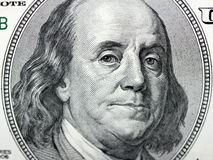 Benjamin Franklin on 100 Dollar Bill Stock Photo