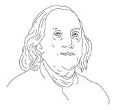 Benjamin Franklin stock illustrationer