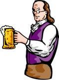 啤酒Benjamin Franklin杯子 库存图片