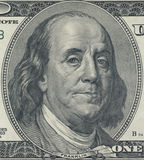 Benjamin Franklin. As depicted on US one hundred dollar bill Royalty Free Stock Photo