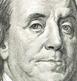 Benjamin Franklin. As depicted on US one hundred dollar bill Stock Photography