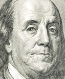 Benjamin Franklin. Closeup of Benjamin Franklin as depicted on US one hundred dollar bill Royalty Free Stock Photos