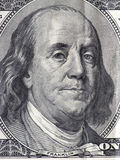 Benjamin franklin. Macro of a hundred dollar bill Stock Photo